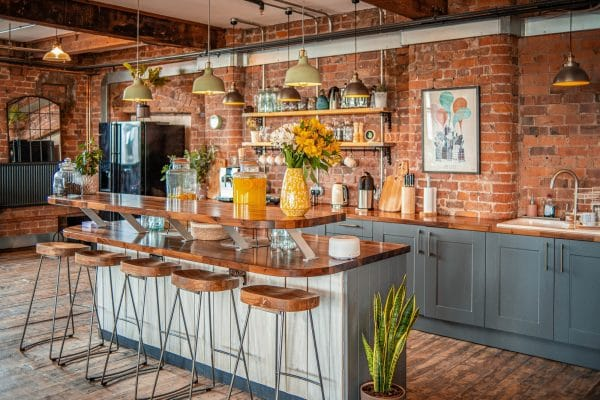 Spacious kitchen in the Lower Loft