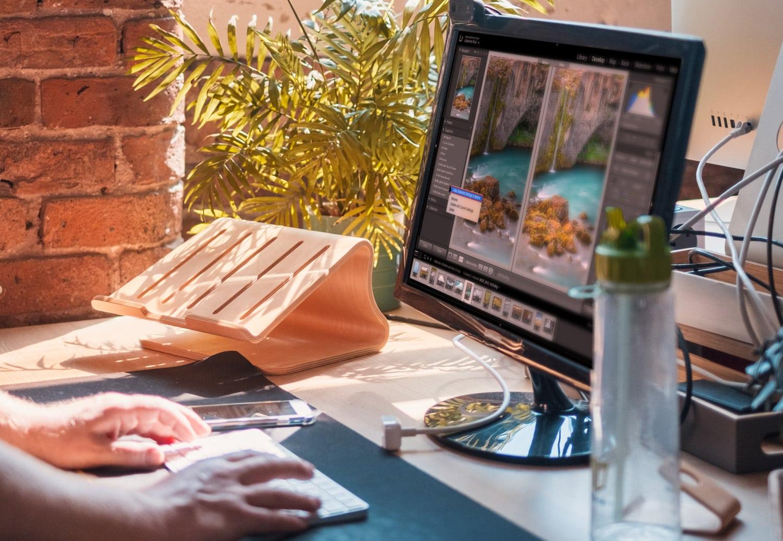 Desk Closeup with monitor