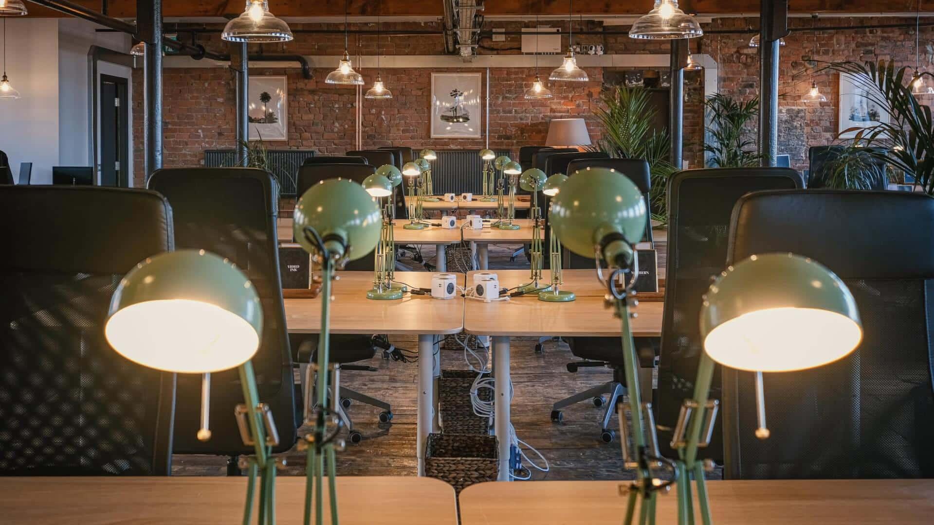 lower loft coworking desks