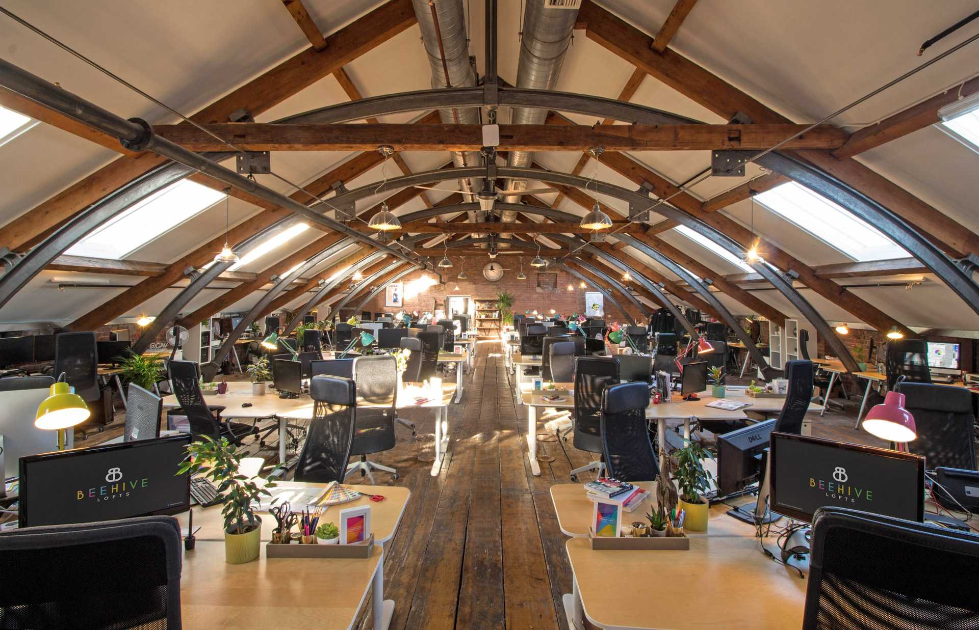 A central view of the Upper Loft workspace